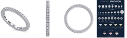 Macy's Certified Diamond (1 ct. t.w.)  Eternity Band in 14K White Gold