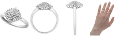 Macy's Diamond Baguette Cluster Statement Ring (1/3 ct. t.w.) in 10k White Gold