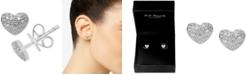 EFFY Collection EFFY® Diamond Pavé Heart Stud Earrings (1/5 ct. t.w.) in Sterling Silver