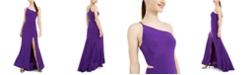Jump Juniors' Cutout One-Shoulder Gown