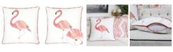 Homey Cozy Flamingo Square Decorative Throw Pillow