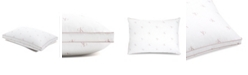 Calvin Klein Monogram Logo Firm Support Cotton Pillow, Standard/Queen