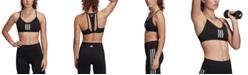 adidas Women's All Me 3-Stripes Low-Impact Mesh Sports Bra