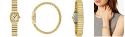 Caravelle Women's Gold-Tone Expansion Bracelet Watch 18x25mm