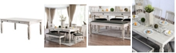 Furniture of America St. Claire Solid Wood Dining Table