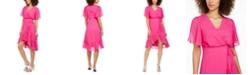 Calvin Klein High-Low Chiffon Dress