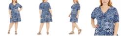 Michael Kors Plus Size Paisley-Print Dress