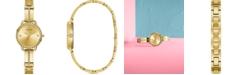 GUESS Women's Gold-Tone Stainless Steel Semi-Bangle Bracelet Watch 30mm