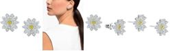 Swarovski Silver-Tone Eternal Flower Stud Earrings