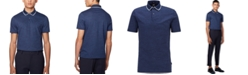 Hugo Boss BOSS Men's Pitton 17 Open Blue Polo Shirt