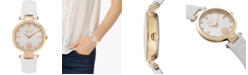 Versus by Versace Women's Covent Garden Petite White Leather Strap Watch 32mm