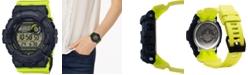 G-Shock Women's Digital Steptracker Neon Yellow Resin Strap Watch 45.2mm