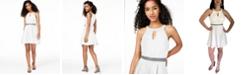 Emerald Sundae Juniors' Embellished Fit & Flare Dress