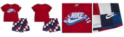 Nike Baby Boy 2-Pc. Logo T-Shirt and Mesh Shorts Set