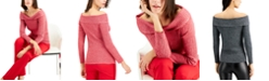 INC International Concepts INC Ribbed Off-The-Shoulder Sweater, Created for Macy's