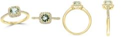 EFFY Collection EFFY® Green Quartz (3/4 ct. t.w.) & Diamond (1/8 ct. t.w.) Ring in 14k Gold