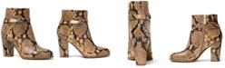 Michael Kors Finley Snakeskin-Print Ankle Booties
