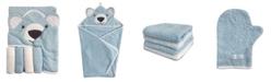 Happycare Textiles Snoogie Boo Baby Premium Cotton Hooded Towel, Wash-mitt, Washcloth Set