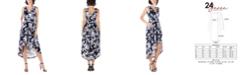 24seven Comfort Apparel Women's Sleeveless High Low Pocket Dress