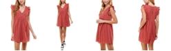 Crystal Doll Juniors' Ruffled Eyelet Dress