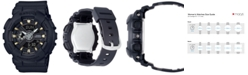 G-Shock Women's Analog-Digital Black Resin Strap Watch 43x46mm BA110GA-1A