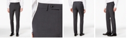 Bar III Men's Skinny Fit Stretch Wrinkle-Resistant Charcoal Suit Pants, Created for Macy's