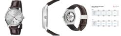 Gucci Men's Swiss Automatic G-Timeless Dark Brown Alligator Leather Strap Watch 40mm