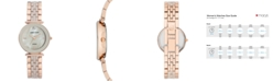 Anne Klein Women's Diamond-Accent Rose Gold-Tone & Taupe Ceramic Bracelet Watch 30mm