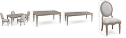 Furniture Elina Expandable Dining Furniture, 5-Pc. Set (Dining Table & 4 Upholstered Side Chairs), Created for Macy's