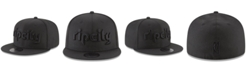 New Era Portland Trail Blazers Blackout 59FIFTY Fitted Cap