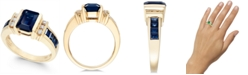 EFFY Collection EFFY® Sapphire (2-1/4 ct. t.w.) and Diamond (1/6 ct. t.w.) Ring in 14k Gold(Also Available in Emerald)