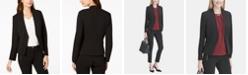 Calvin Klein Petite Asymmetrical Open-Front Blazer