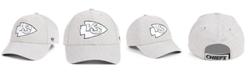 '47 Brand Kansas City Chiefs Heathered Black White MVP Adjustable Cap