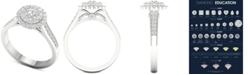 Macy's Diamond (1 ct. t.w.) Halo Ring in 14k White Gold