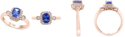 EFFY Collection EFFY® Tanzanite (3/4 ct. t.w.) and Diamond (1/4 ct. t.w.) Ring in 14k Rose Gold