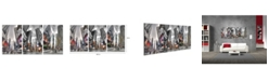"""Chic Home Decor Citylife 3 Piece Wrapped Canvas Wall Art NYC Times Sq -20"""" x 40"""""""