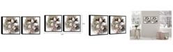 "Chic Home Decor Magnolia 2 Piece Framed Canvas Wall Art Floral Design -15"" x 31"""