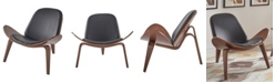 iNSPIRE Q Alois Mid-Century Faux Leather Shell Chair