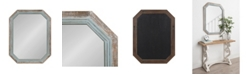 Kate and Laurel Palmer Wood Octagon Wall Mirror