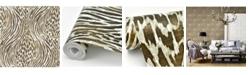 "Brewster Home Fashions Splendid Animal Print Wallpaper - 396"" x 20.5"" x 0.025"""