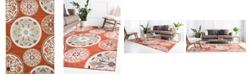 Bridgeport Home Pashio Pas4 Terracotta 6' x 9' Area Rug