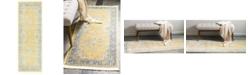 """Bridgeport Home Kenna Ken1 Yellow 2' 2"""" x 6' Runner Area Rug"""