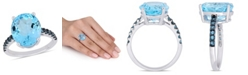 Macy's Blue Topaz (10-1/2 ct.t.w.) Ring in Sterling Silver