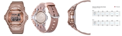 G-Shock Women's Digital Beige Resin Strap Watch 43x46mm BG169G-4