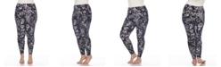 White Mark Plus Size Printed Leggings