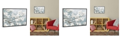"""iCanvas Dogwood Blossoms Ii in Blue Gray Crop by James Wiens Gallery-Wrapped Canvas Print - 18"""" x 26"""" x 0.75"""""""