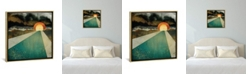 """iCanvas Retro Sunset by Spacefrog Designs Gallery-Wrapped Canvas Print - 26"""" x 26"""" x 0.75"""""""