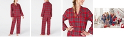 Family Pajamas Matching Women's Brinkley Plaid Family Pajama Set, Created for Macy's