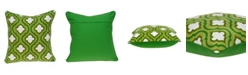 Parkland Collection Gamma Traditional Green and White Pillow Cover