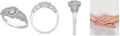 Macy's Diamond Filigree Ring (1/3 ct. t.w.) in 10k White Gold